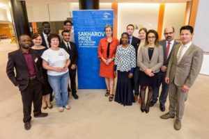 Sakharov Fellows with Ulrike Lunacek